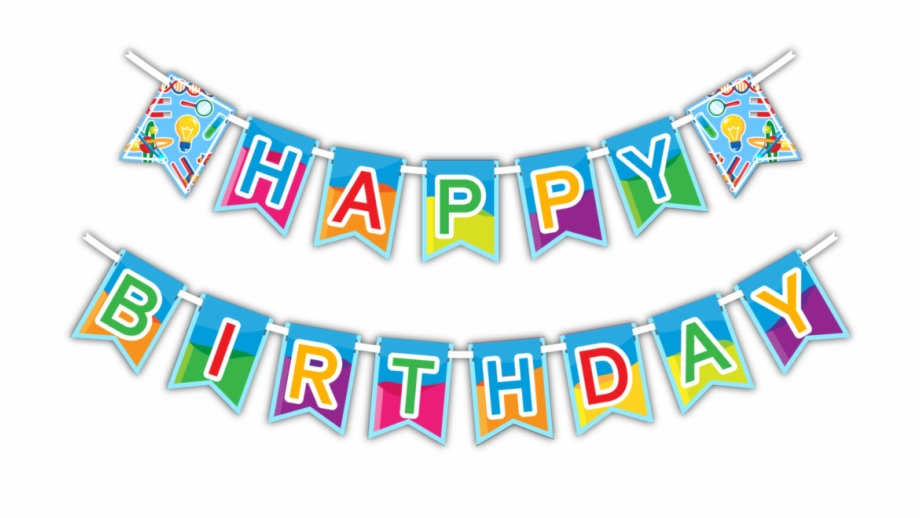 Flag clipart happy birthday. Clip black and white
