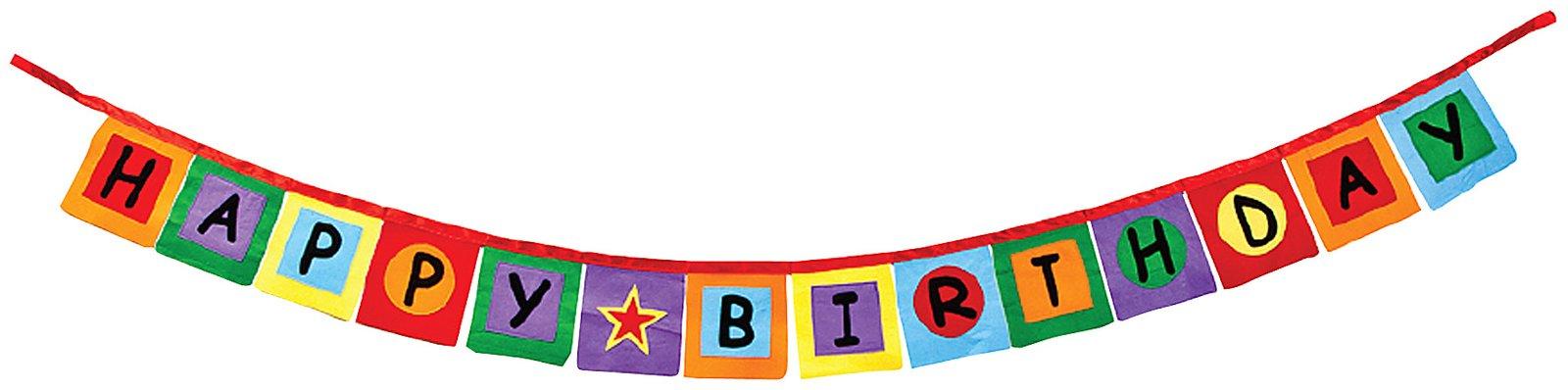 Happy birthday banner clip. Anniversary clipart ribbon