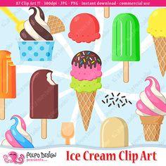 Digital kreatief maak dit. Banners clipart ice cream