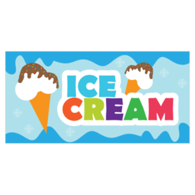 Banners clipart ice cream. Banner printastic com blank
