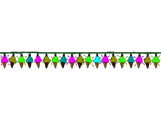 Manycam effect cones banner. Banners clipart ice cream