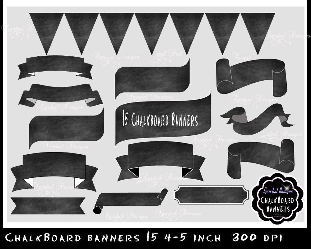 Banners clipart invitation. Sparkal digital design chalkboard