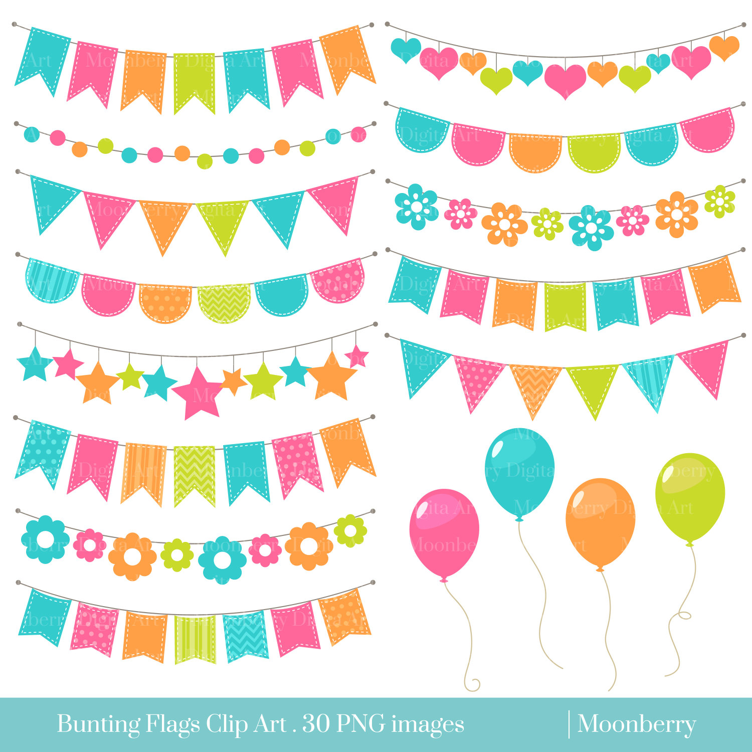 Bunting . Banners clipart invitation