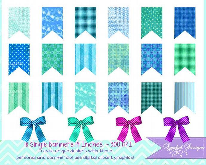 Banner polka dots stripes. Banners clipart invitation