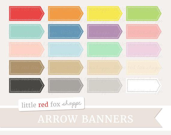 Banners clipart label. Arrow banner clip art