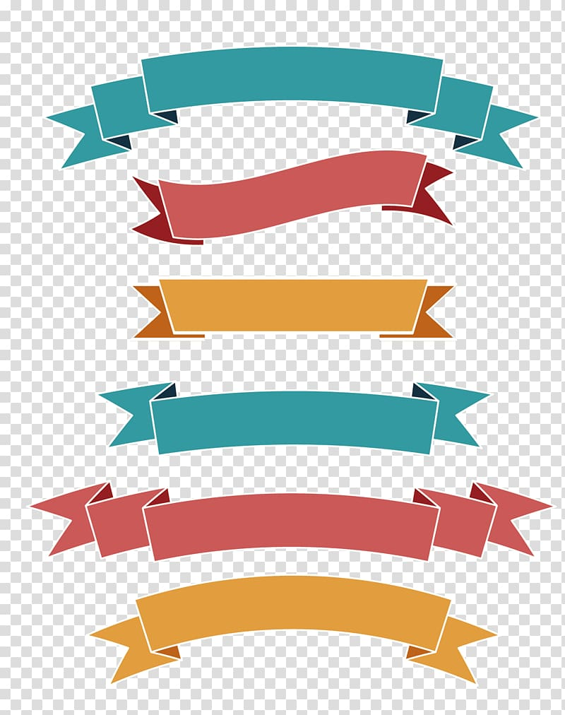 Multicolored ribbons illustration ribbon. Banners clipart label
