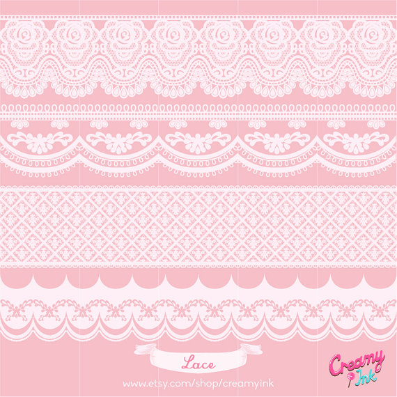 Banners clipart lace. Victorian banner digital vector