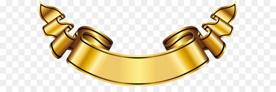 Banner clipart logo. Gold label large png