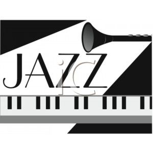 Picture of a jazz. Banners clipart music