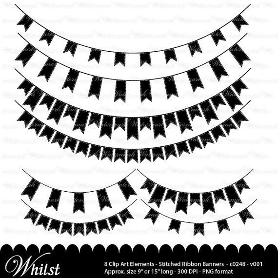 Banner black and white. Banners clipart music