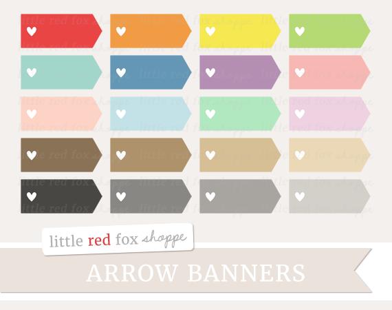 Heart arrow by little. Banner clipart rectangle