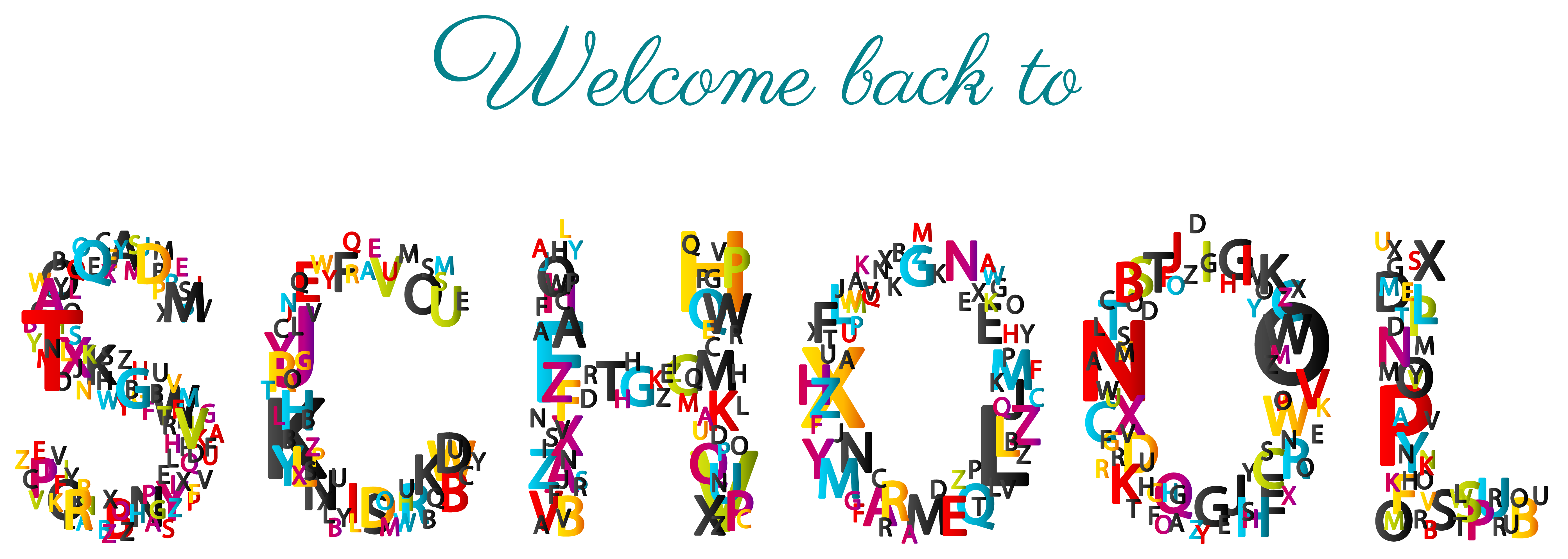 Welcome back to school. Clipart calendar student