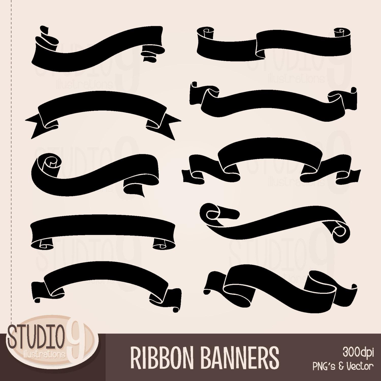Ribbon banner silhouettenokiaaplicaciones com. Banners clipart silhouette