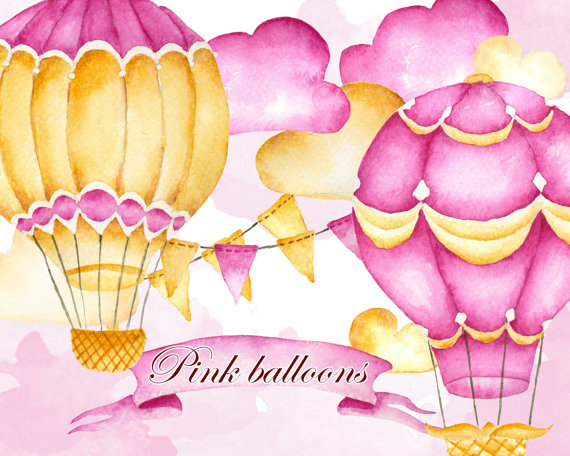 Hot air balloons airballoons. Banners clipart sky