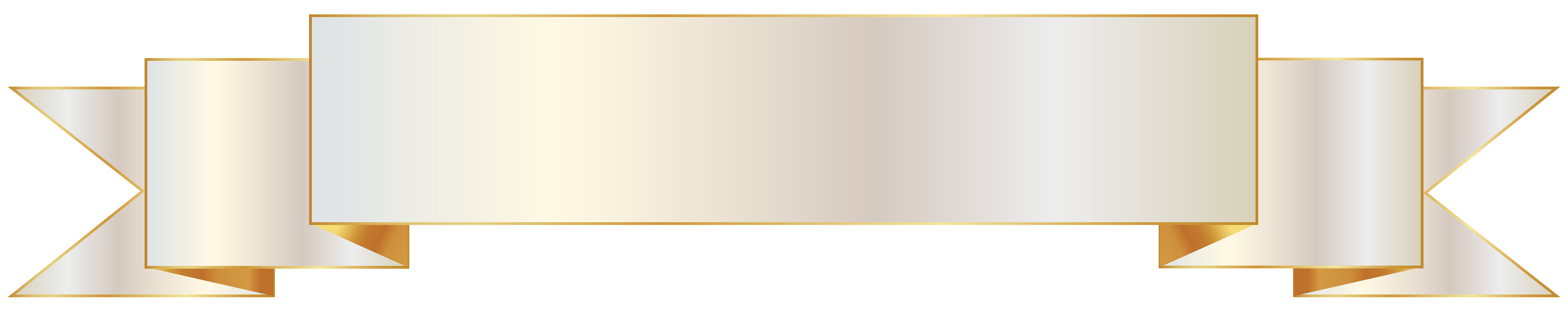 White and gold banner. Banners clipart sky