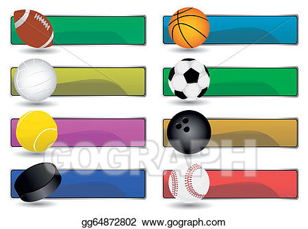 Banners clipart sport. Vector stock illustration gg