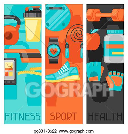 Illustration sports and healthy. Can clipart vector