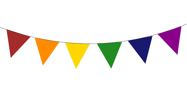 Triangular clipart banner. Free triangle flag cliparts