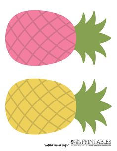 Cute pineapples set pineapple. Banners clipart tropical
