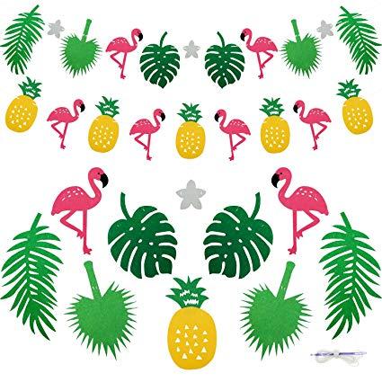 Banners clipart tropical. Amazon com bilipala flamingo