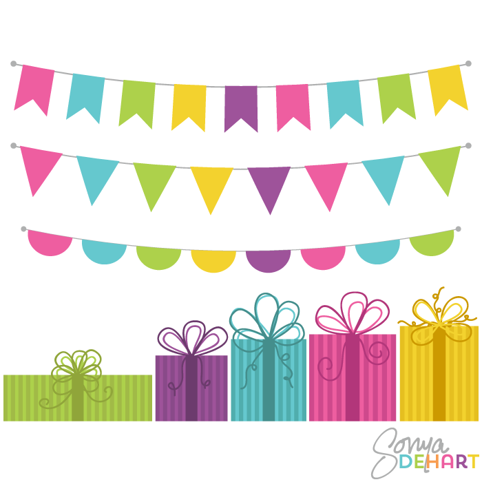 Banners clipart vector. Free bunting banner clip