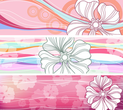 Summer flowers free download. Banners clipart vector
