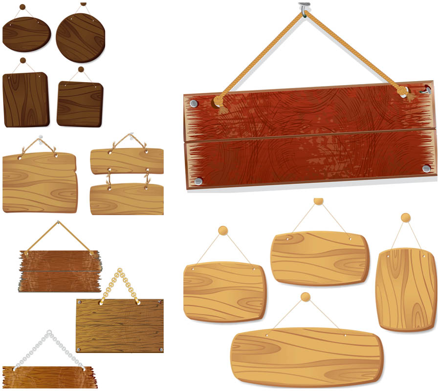 Wood banner pencil and. Banners clipart vector