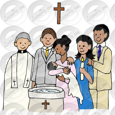 Baptism clipart. Picture for classroom therapy