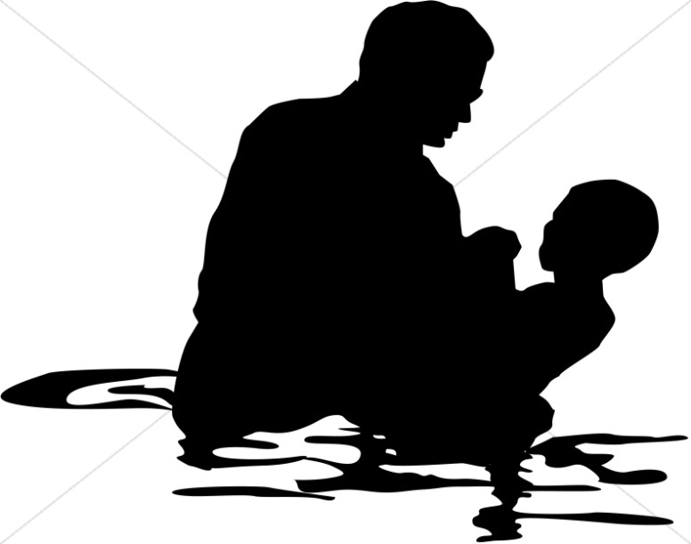 Baptism clipart. Full immersion