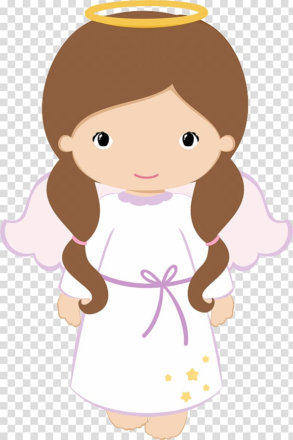 Baptism clipart angel. Brown haired female first