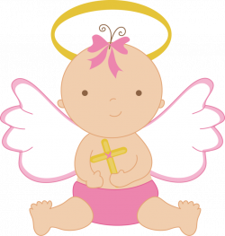 Cross for vector quilts. Baptism clipart baby girl