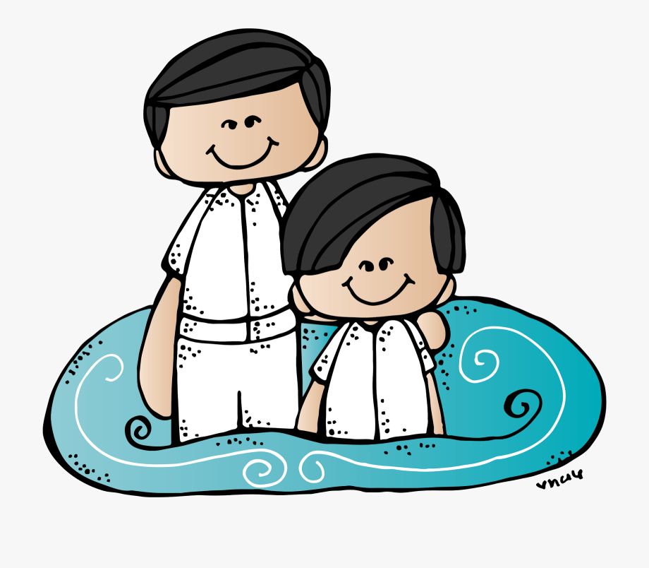 Visiting teaching by heather. Lds clipart water baptism