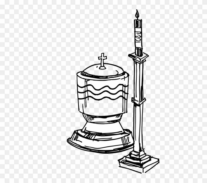 Baptismal font png download. Clipart candle baptism candle