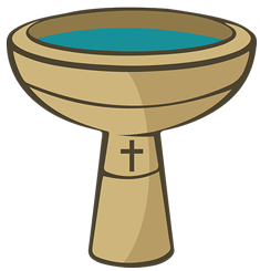 Transparent png stickpng. Baptism clipart baptismal font