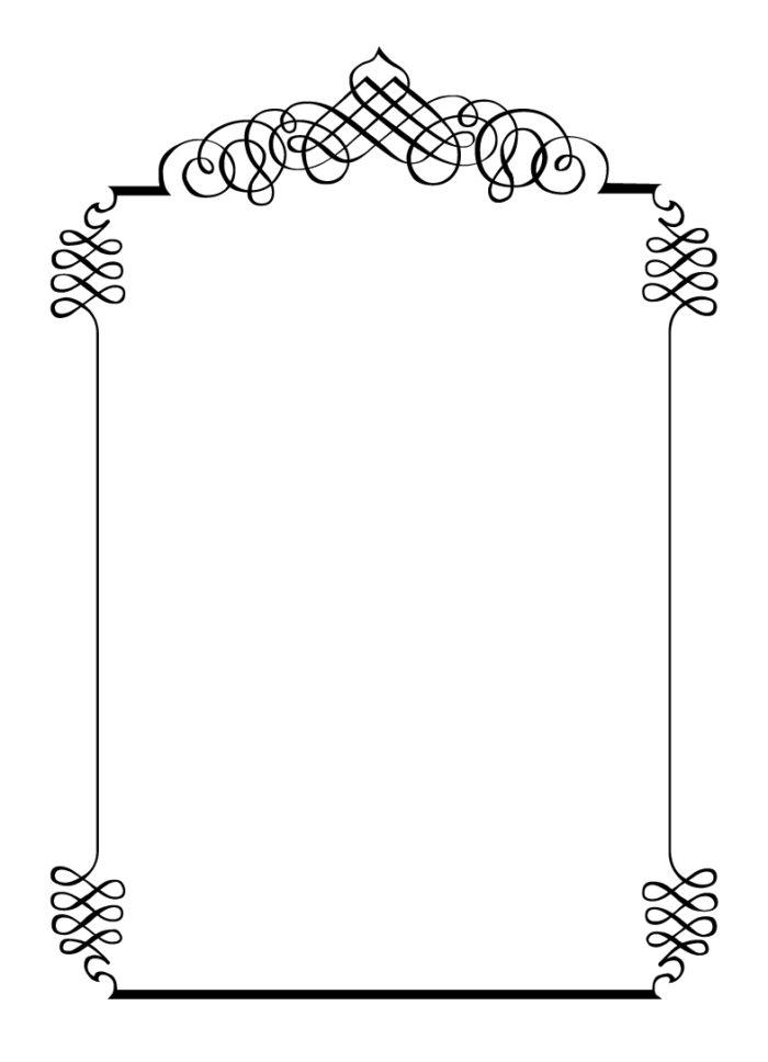 Baptism clipart border. White wedding templates gallery