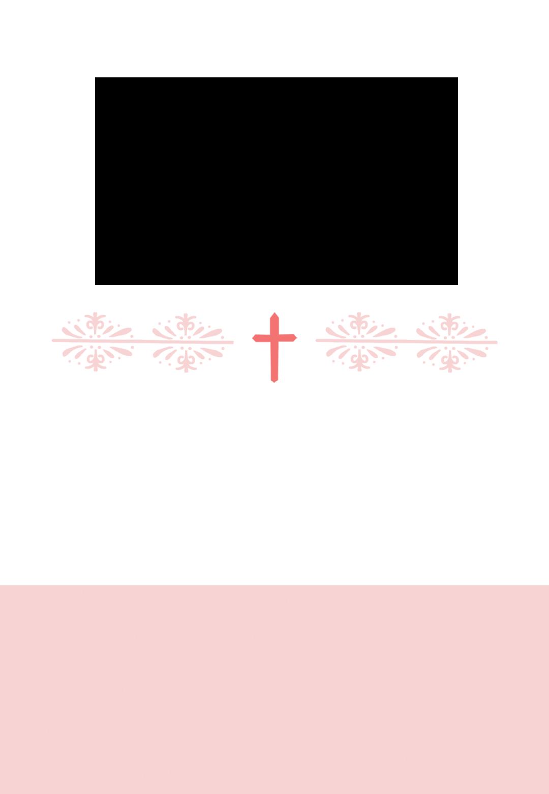 Baptism clipart border. Pink cross girl free