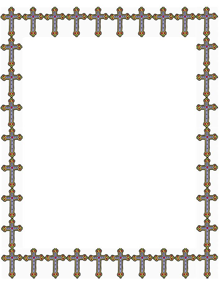Baptism clipart border. Cross template baby and