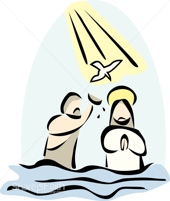Of the lord images. Baptism clipart cartoon