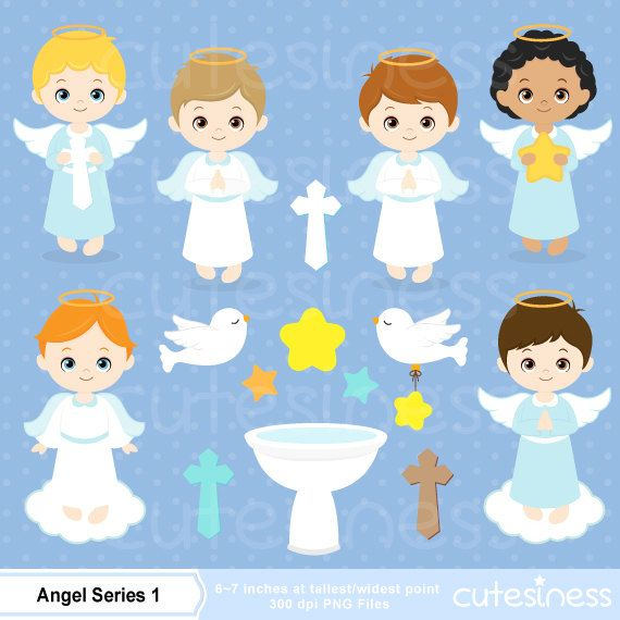 Angel digital clip art. Baptism clipart cartoon