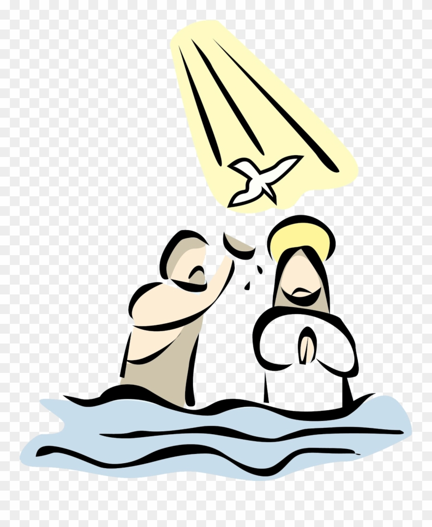Jesus being baptised png. Baptism clipart cartoon