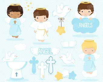 Angel digital clip art. Baptism clipart child baptism