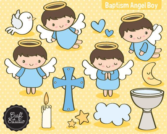 Baptism clipart child baptism. I baptize angel digital