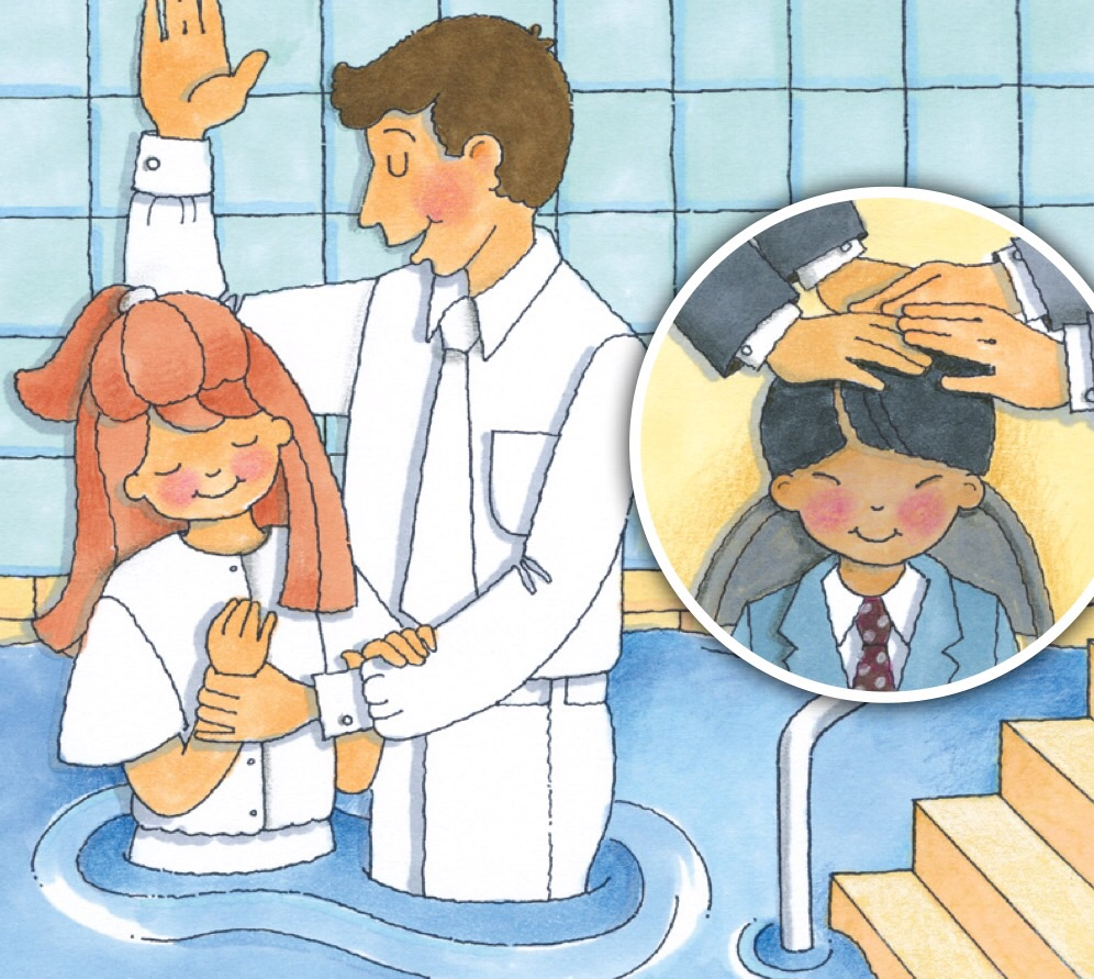 Teaching lds children friend. Baptism clipart child baptism