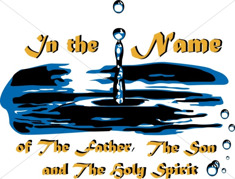 Baptism clipart church. Of father son and