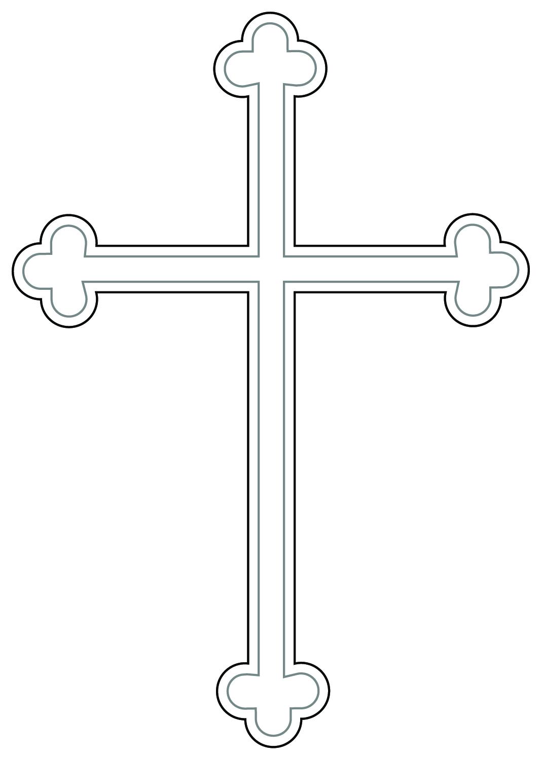 crucifix clipart cros