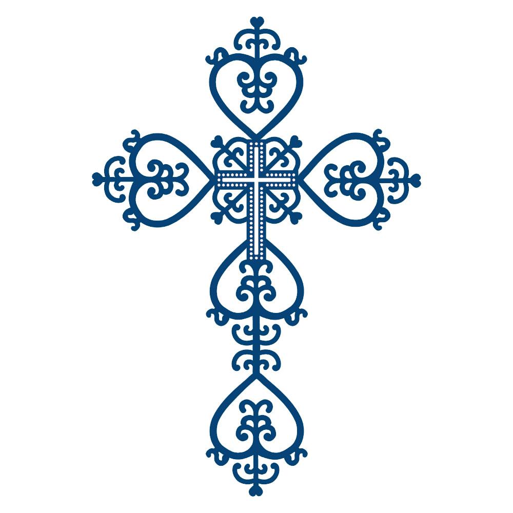 Baptism clipart crucifix. Blue cross