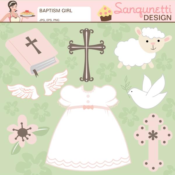 baptism clipart cute