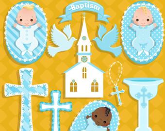 Christening etsy baby boy. Baptism clipart cute