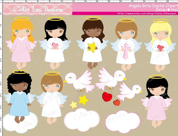 Baptism clipart cute. Angel angels girls