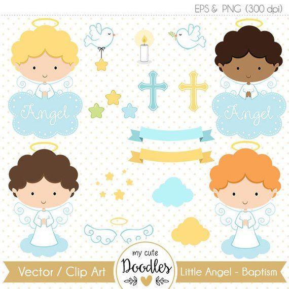 Baptism clipart cute. Angel little